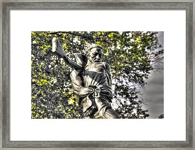 Mississippi At Gettysburg - Desperate Hand-to-hand Fighting No. 2 Framed Print by Michael Mazaika