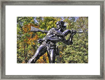 Mississippi At Gettysburg - Desperate Hand-to-hand Fighting No. 3 Framed Print by Michael Mazaika