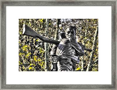 Mississippi At Gettysburg - Desperate Hand-to-hand Fighting No. 4 Framed Print by Michael Mazaika