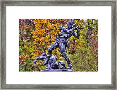 Mississippi At Gettysburg - Desperate Hand-to-hand Fighting No. 5 Framed Print by Michael Mazaika