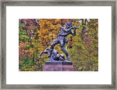 Mississippi At Gettysburg - On This Ground Our Brave Sires Fought.... Framed Print by Michael Mazaika