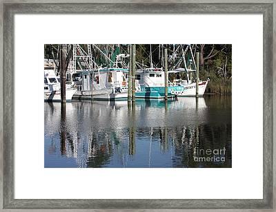 Mississippi Boats Framed Print