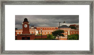 Mississippi College Clock Framed Print by Donnell Carr
