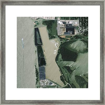 Mississippi Flooding, Usa Framed Print by Science Photo Library