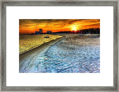 Beach - Coastal - Sunset - Mississippi Gold Framed Print