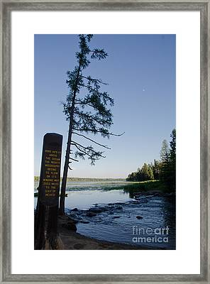 Mississippi Headwaters Framed Print