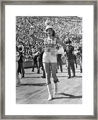 Mississippi Majorette Struts Framed Print by Underwood Archives