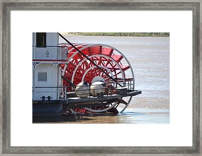 Mississippi Queen Ferry Wheel Framed Print by Kim Stafford