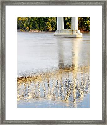 Mississippi Reflection Framed Print