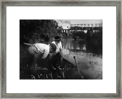 Mississippi River, Boys Watch Framed Print by Everett