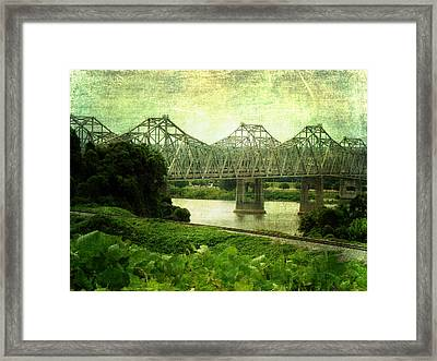 Mississippi River Bridge Framed Print by Terry Eve Tanner