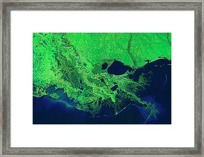 Mississippi River Control Systems Framed Print