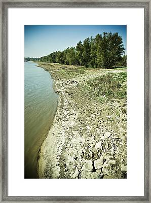 Mississippi River In Louisiana Framed Print by Ray Devlin