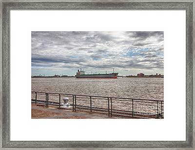 Mississippi River In New Orleans Framed Print by Kay Pickens