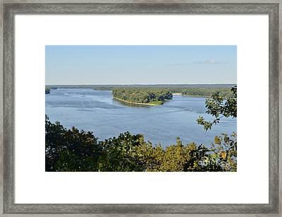 Mississippi River Overlook Framed Print