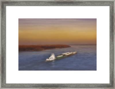 Mississippi Sunset Framed Print