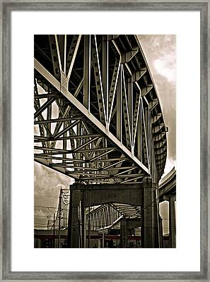 Mississippi Truss In New Orleans Framed Print by Ray Devlin