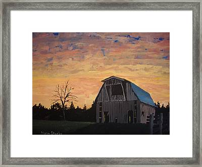 Missouri Barn Framed Print by Norm Starks