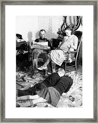 Missouri Family, 1939 Framed Print