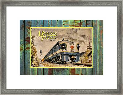 Missouri Pacific Lines Sign Engine 309 Dsc02854 Framed Print