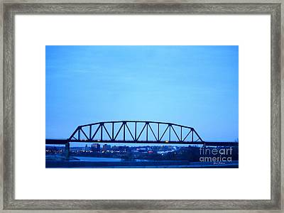 Missouri River At Dusk Framed Print by Yumi Johnson
