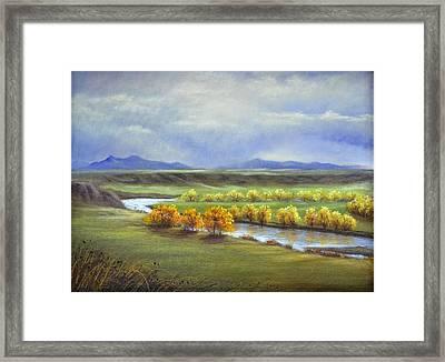 Missouri River At Fort Benton Framed Print