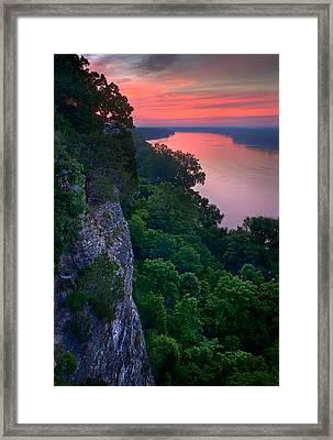 Missouri River Bluffs Framed Print by Robert Charity