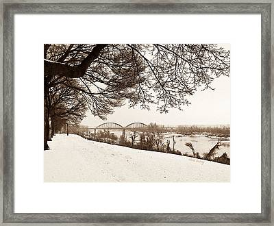 Missouri River From Kansas Framed Print by Chris Berry