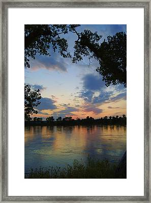 Missouri River Glow Framed Print by Cricket Hackmann