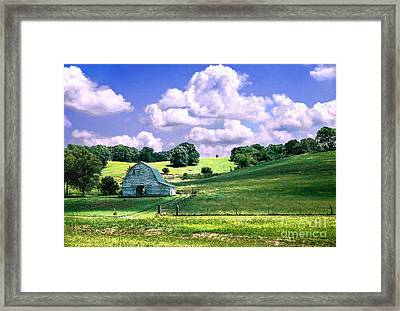 Missouri River Valley Framed Print by Steve Karol