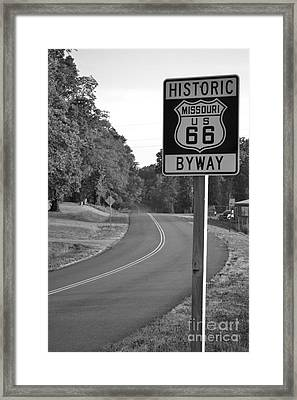 Framed Print featuring the photograph Missouri Route 66 by Utopia Concepts