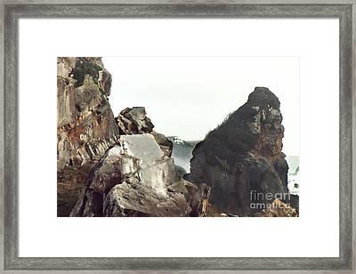 Mist Among The Break Framed Print by Peter Piatt