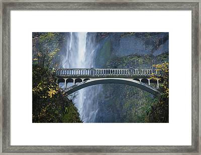 Mist And Stone Framed Print