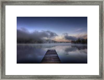 Mist At Lake Logan Framed Print