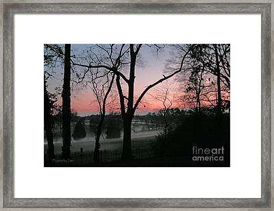 Mist At Sunset Framed Print by Jinx Farmer