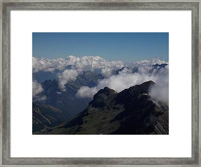 Mist From The Schilthorn Framed Print
