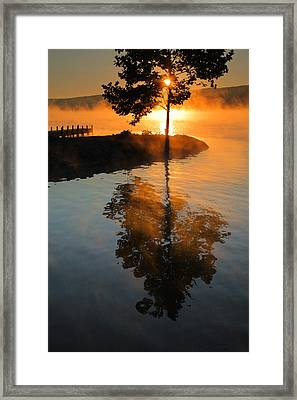 Mist On Fire Framed Print by Steven Ainsworth
