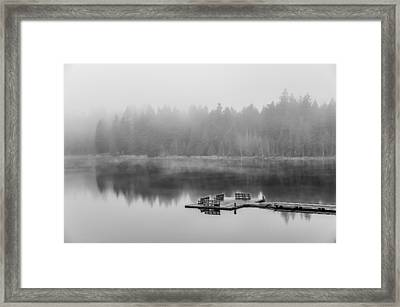 Mist On Lake Framed Print