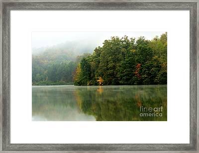 Mist On The  Lake Framed Print by Thomas R Fletcher