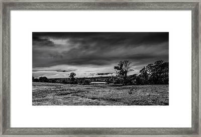 Mist On The Plains Framed Print by Mark Lucey
