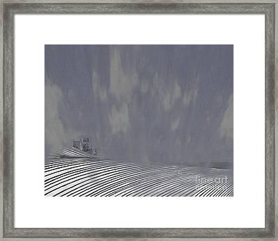 Mist Rolls In Framed Print