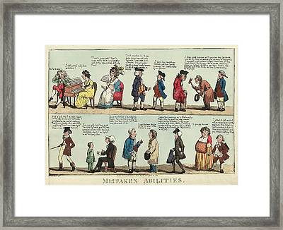 Mistaken Abilities, Woodward, G. M. George Moutard Framed Print