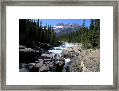 Mistaya Canyon Trail Framed Print