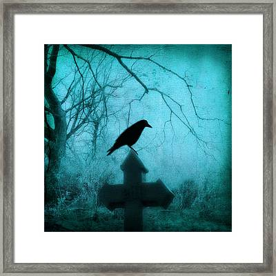 Misted Blue Framed Print