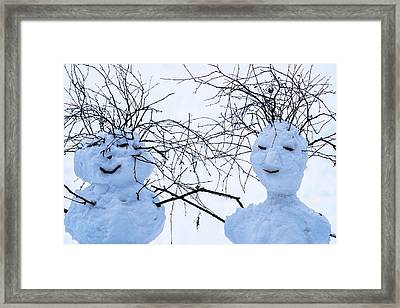 Mister And Missis Snowball - Featured 3 Framed Print by Alexander Senin