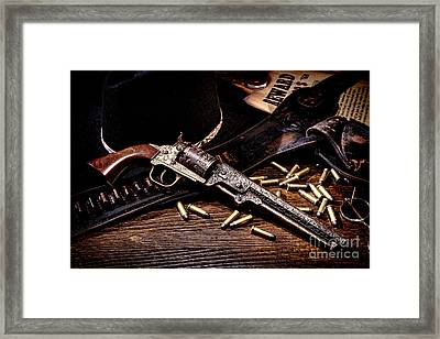 Mister Durant's Revolver Framed Print by Olivier Le Queinec