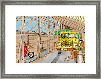 Mister Filby's Toolshed Framed Print by Gerry Robins