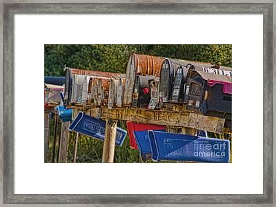 Mister Postman Framed Print