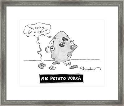 Mister Potato Vodka Framed Print