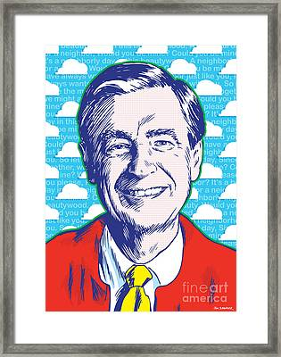 Mister Rogers Pop Art Framed Print